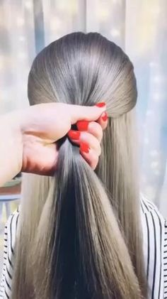 Easy Hairstyles For Long Hair, Hairstyles For School, Cute Hairstyles, Wedding Hairstyles, Hairstyles Videos, Beautiful Hairstyles, Party Hairstyles, Beach Hairstyles, Ponytail Hairstyles
