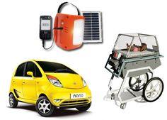 Más ejemplos de innovación frugal:    El Tata Nano, una lámpara solar de $12 y una incubadora creada con piezas de coche