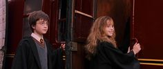 Did you know? #10 When filming started for The Philosopher's Stone, director Chris Columbus wanted to try and make Hermione look as much like she did in the book. In the first scene they shot, which was actually the last in the film where they board the Hogwarts Express to go home for the holidays, Emma Watson has frizzier hair and is wearing a pair of fake buck teeth. The idea was later dismissed so clever editing was needed so it wouldn't be noticeable. #harrypotter #featurefilm #mudblood