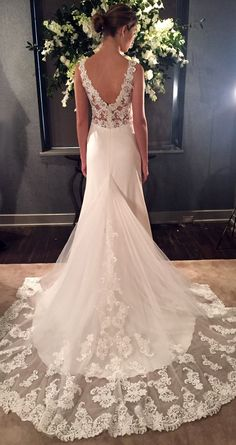 Lace Wedding Dress by Kelly Faetanini Spring 2017