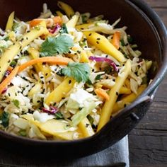 Asian Cabbage Mango Slaw- a light and refreshing Asian-inspired side dish.