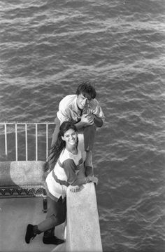 Alain Delon and Claudia Cardinale by Patrice Habans, 1962.