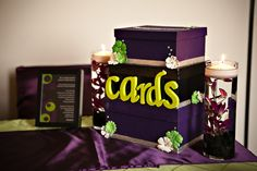 event planning, cards, card box