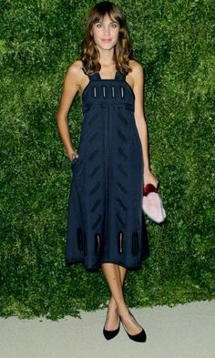 Alexa Chung tops our best-dressed list with this chic dress and Shrimps clutch combo http://po.st/lIcuY2