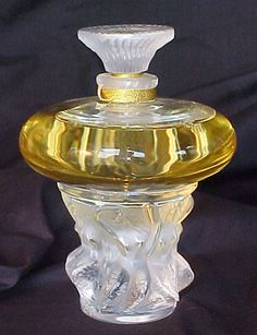 French Art Deco Lalique Crystal Perfume Bottle