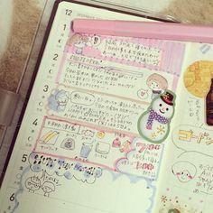 chirorie: #hobonichi#ほぼ日手帳weeks #ほぼ日手帳#マイルドライナー #フレークシール 明日からハウステンボス\(^o^)/ 楽しみすぎます(*≧艸≦)
