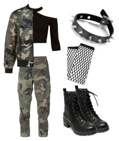 """""""Camo pt.2"""" by rand0mgirl1230 on Polyvore featuring RE/DONE, Sans Souci, Madden Girl and MANGO"""