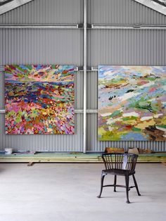Artwork by Colin Pennock awaiting Colin's upcoming show at Arthouse Gallery in Sydney. Photo – Toby Scott for The Design Files.