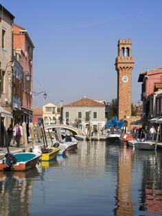 Clock Tower on Murano Island, Venice, Veneto