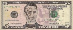 Dollar Bills Turned Into Portraits Of American Icons | Bored Panda