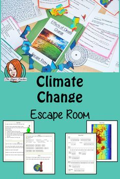 Climate Change Escape Room Game This is a fun game that is perfect for teaching children about climate change. This game focuses on students finding out facts and information and using these to solve…More Escape Room, Teaching Kids, Teaching Resources, Tes Resources, Science Activities, Activities For Kids, Environmental Change, Environmental Science, Effects Of Global Warming