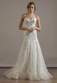 Omygoodness!  LOVE! liancarlo-romantic-drop-waist-wedding-dress-2015