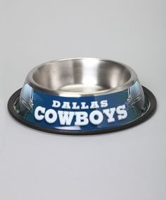 Look at this Dallas Cowboys Stainless Steel 32-Oz. Pet Bowl on #zulily today!