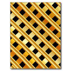 Fundo do ouro cartão postal