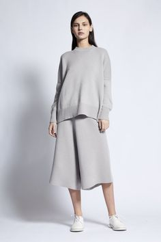 Aila Jersey Knit Cashmere Pullover in Dune Reversible Skirt, Cotton Bag, Body Shapes, Dune, Rib Knit, Cashmere, Trousers, Normcore, Pullover