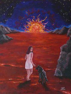 "Bild ""Inferno"" Acryl auf Leinwand"