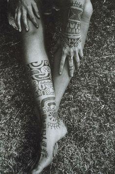 native american pattern in tatoo