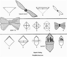 Ways to fold napkins