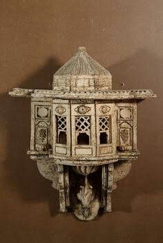 Bird house from Cihat Burak (Turkish painter and ceramist) Garden Lanterns, Turkish Art, Ceramic Houses, Art And Architecture, Futuristic Architecture, Ottoman Empire, Bird Cage, Islamic Art, Decoration