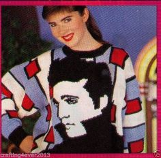 Knitting Pattern For Elvis Jumper : 1000+ images about CHARACTERS - ELVIS MUSICIANS - MIXED PATTERNS on Pinterest...