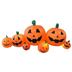 Inflatable 8 Foot Halloween Rotatable Stack Pumpkin Decoration Lighted Air Blown By Sign in DreamsGO >>> Visit the image link more details. (This is an affiliate link) #OutdoorHolidayDecorations