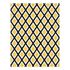 #Black and Gold Geometric Diamonds Pattern Letterhead - #office #gifts #giftideas #business