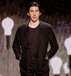 Adam Driver during his excellent TED talk. You should watch it. Google it.