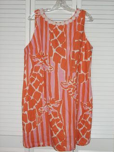 Lilly Pulitzer Target Dress 18 Ladies Giraffe Pink Orange NWT #LillyPulitzer #Sheath #Casual