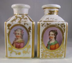 French Old Paris hand painted perfume cologne bottles | eBay
