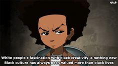 Huey Freeman Only Speaks The Truth / The Boondocks Boondocks Quotes, Boondocks Comic, Boondocks Drawings, Dope Cartoon Art, Dope Cartoons, Black Cartoon Characters, Black History Facts, Black Power, Black People
