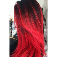 23 Beautiful Red Ombre Hair | LoveHairStyles.com ❤ liked on Polyvore featuring hair