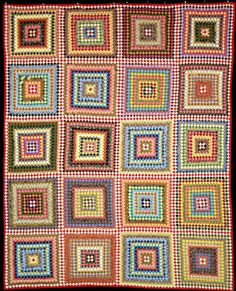 """Postage Due"" by Sue Garman..........squares are 1/2-inch in size"
