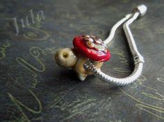 Turtle Turtle bead Pandora glass bead Lampwork bead от Julaglass