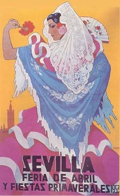 Cartel de Las Fiestas de Primavera de Sevilla 1953
