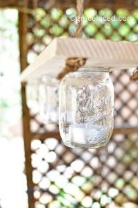 Mason Jar Chandelier For The Arbor