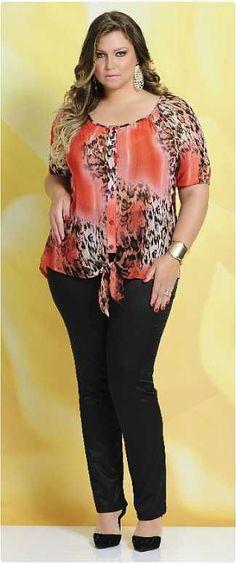 Program Moda Feminina Plus Size, Verão Looks Plus Size, Curvy Plus Size, Plus Size Tops, Plus Size Women, Curvy Fashion, Plus Size Fashion, Girl Fashion, Womens Fashion, Plus Size Dresses