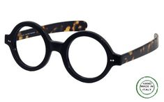 """GLA37 Large reading glass size 5 7/8"""" x 2 1/8"""". Bold round frame for women and men. This frame shouts """"Its about ME and I am unforgettable"""". Paddle temples go straight back. The entire design is a symbiosis of fashion and function. Round frames are in, Melissa Eyewear offers round glasses in a few sizes. Price: $185.00"""