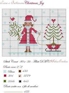 Ma sì, ... torniamo al rosso #Natale con uno schema free di Carolina ''Cuore e batticuore''
