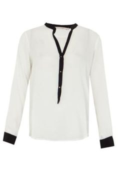 Camisa Pati Contrastante Off-White – Espaço Fashion - http://batecabeca.com.br/camisa-pati-contrastante-off-white-espaco-fashion-dafiti.html