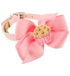 Fancy Flower Dog Collar - This Adorable Pet Collar Features a Delicious Cupcake embellishment