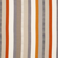 Orange & Grey Striped Material for cushion #bedroom1