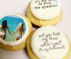 #cute #bridesmaidinvites #cookies