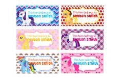 30 Personalized Printed My Little Pony Back To by susanefird