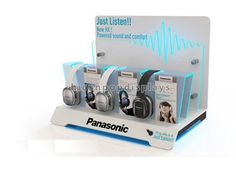 attractive brand creating Earphone and headphone display stand with led lighting from HICON POP DISPLAYS LIMITED