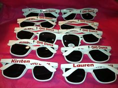 Personalized Sunglasses Dance Team Cheer Team by cgirard5 on Etsy, $6.95