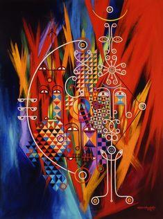 AIM - acrylic on canvas ©2009 by Abba Yahudah Sellassie on ARTwanted www.abbayahudah.com