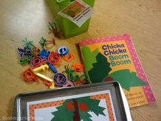 Chicka Chicka Boom Boom :KindergartenWorks: retell literacy center activity -