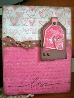 Always pink using Stampin Up Too Terrific Tags retired stamp set.