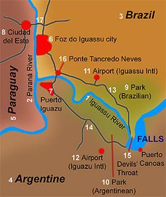 Iguazu Falls Map Maps Of The Iguazu National Parks Argentina - Map argentina national parks