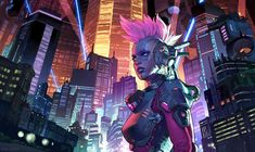 Beautiful Science Fiction, Fantasy and Horror art from all over the world. Art Cyberpunk, What Is Cyberpunk, Cyberpunk Aesthetic, Neon Aesthetic, Cyberpunk Fashion, Neon City, Gaming Wallpapers, Fun Challenges, Shadowrun